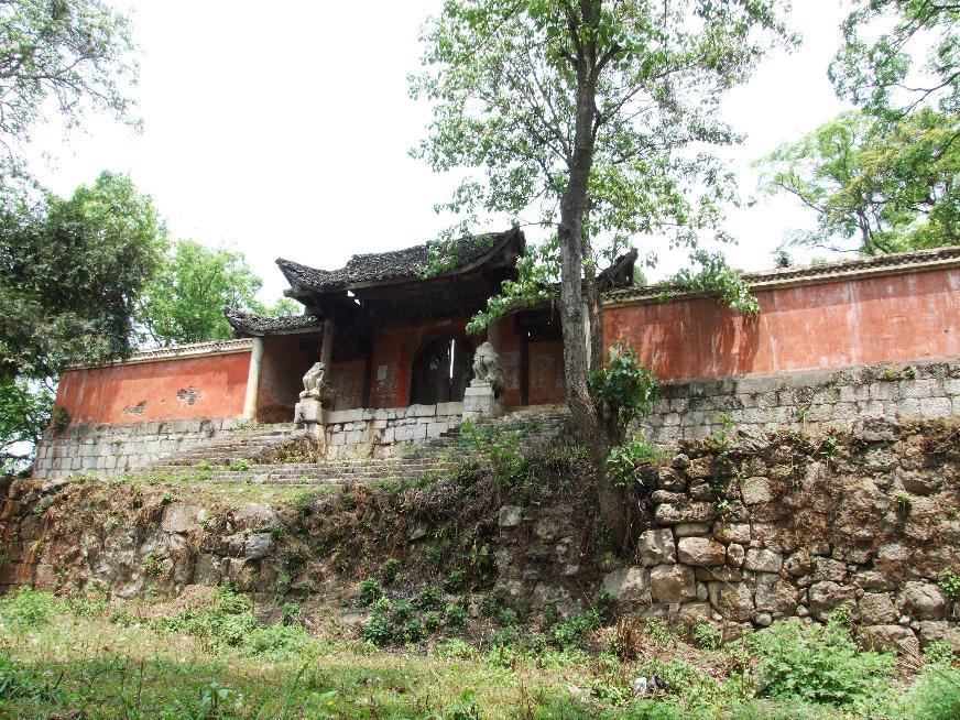 修复前的崧岿寺