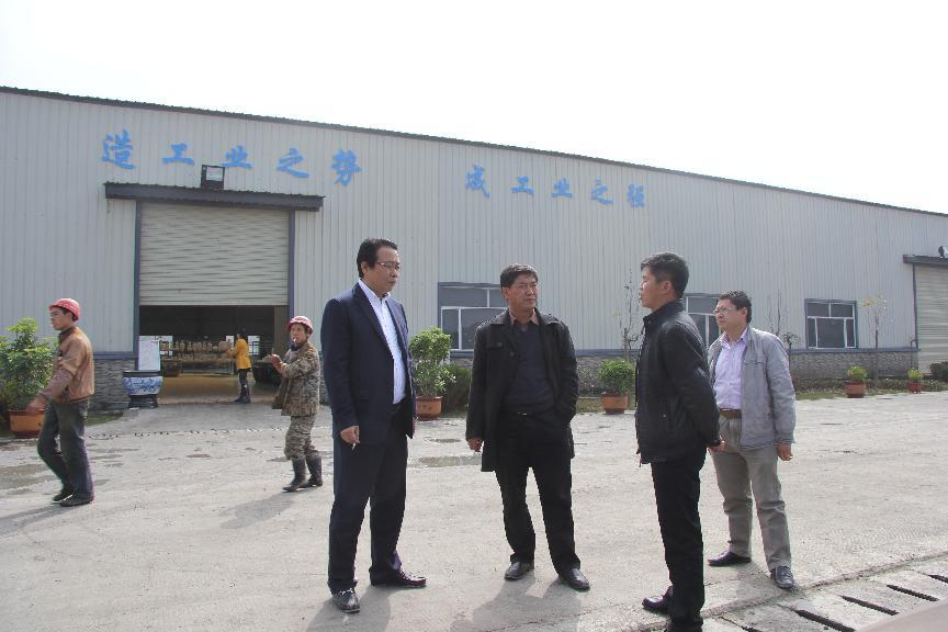 11月6日葛传彦主席在海美斯陶瓷公司董事长郑杰陪同下调研该公司