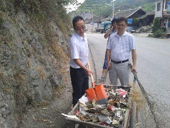 剑河县委统战部认真开展责任区域卫生整治工作
