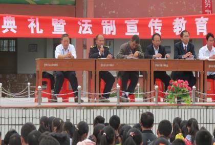 中秋节前夕县地方海事处开展水上交通安全知识进校园活动