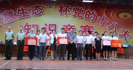 2013年学习党的十八大精神知识竞赛颁奖现场