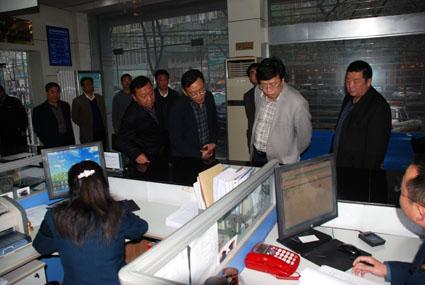 县政法委书记、第八督导组组长王涛 莅临我局就开展党的群众路线实践教育活动进行调研