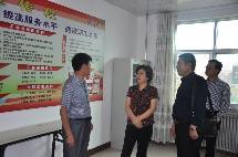 盟人大工委副主任、工会主席郭秀珍一行在阿右旗督导调研