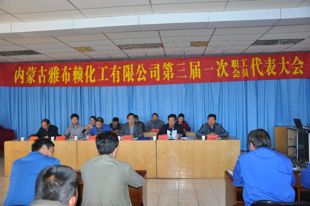 2014年4月4日中泉子化工厂职工代表大会