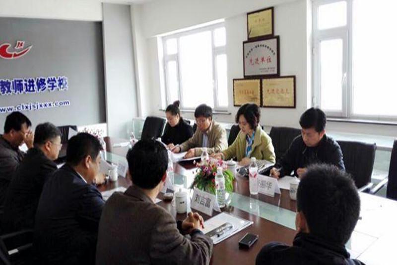 2015年5月14日在长岭县教育局听取学校后勤管理工作专项督导汇报