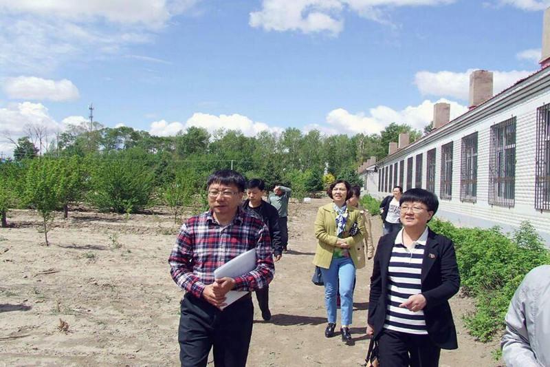 2015年5月19日在乾安县所字镇中学学校后勤管理工作专项督导检查
