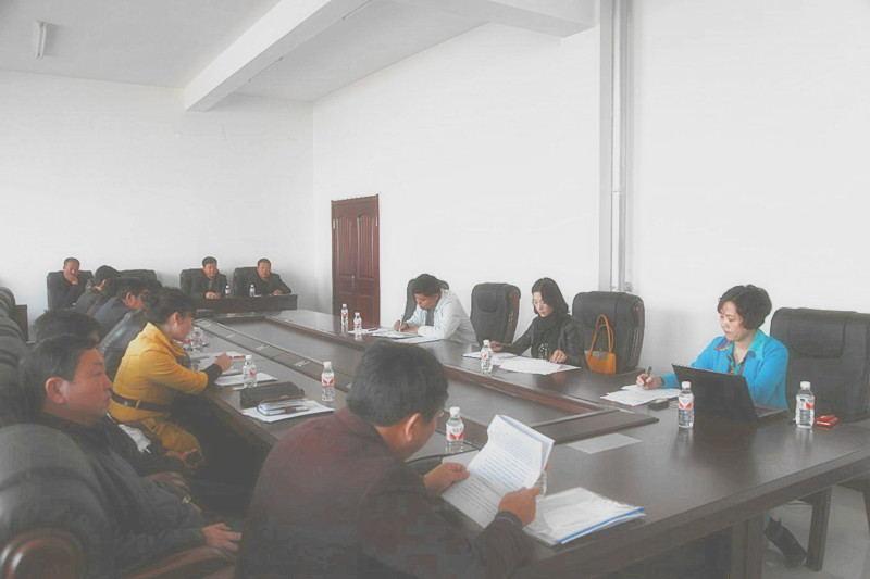 2013年10月18日学校后勤管理中心召开工作会议