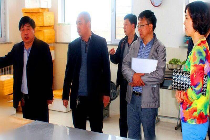2015年5月21日在扶余市三井子镇第一中学学校后勤管理工作专项督导检查