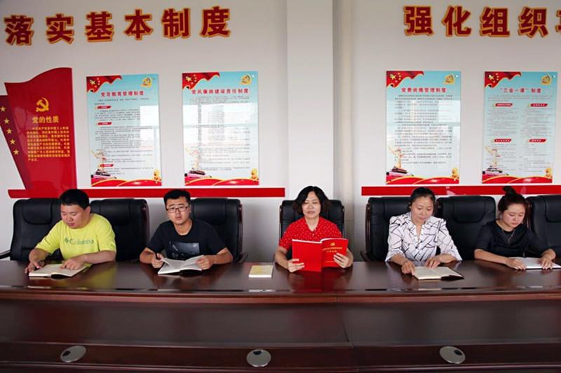 """松原市学校后勤管理中心党支部开展活动庆祝""""七一""""建党节"""