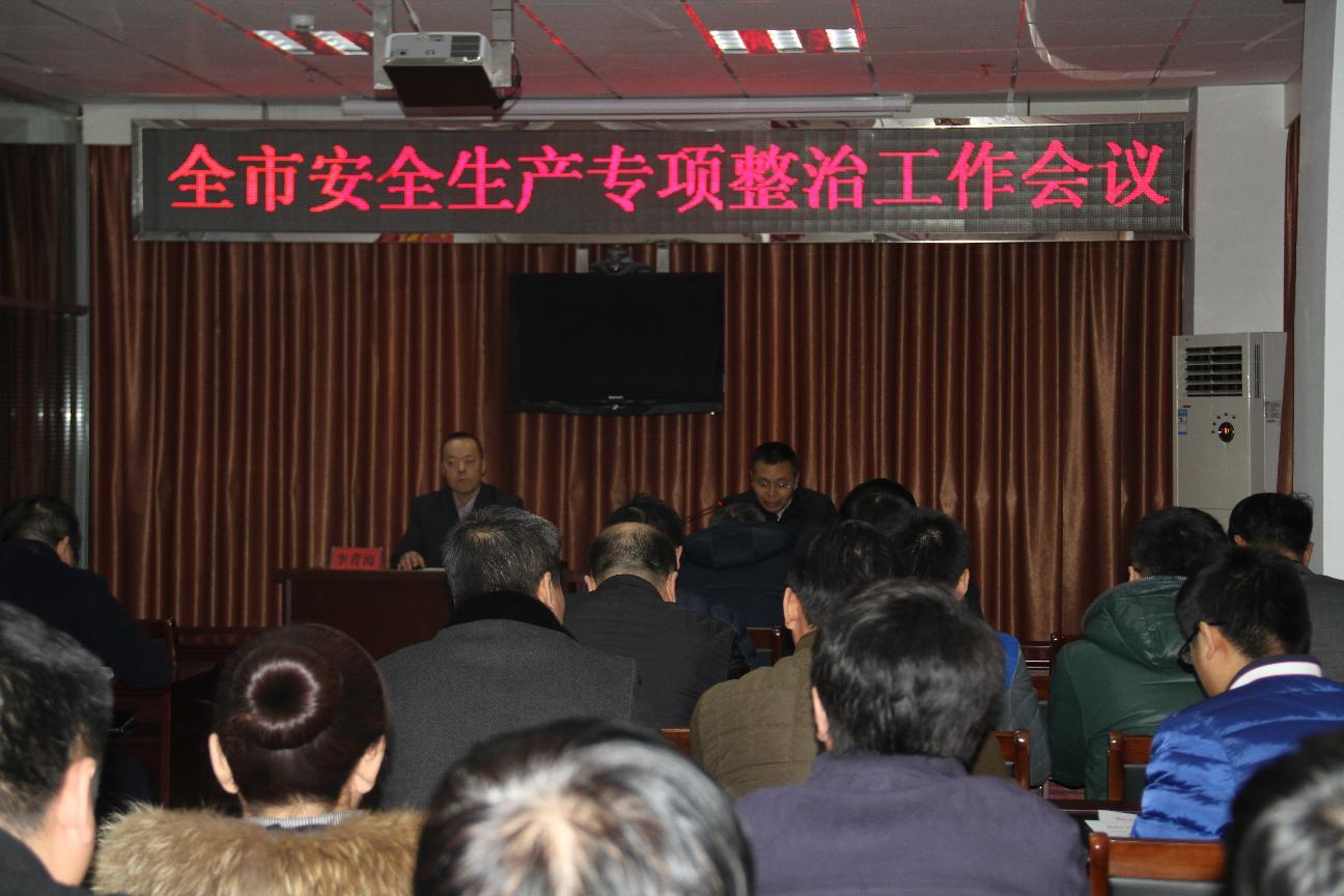全市安全生产专项整治工作会议