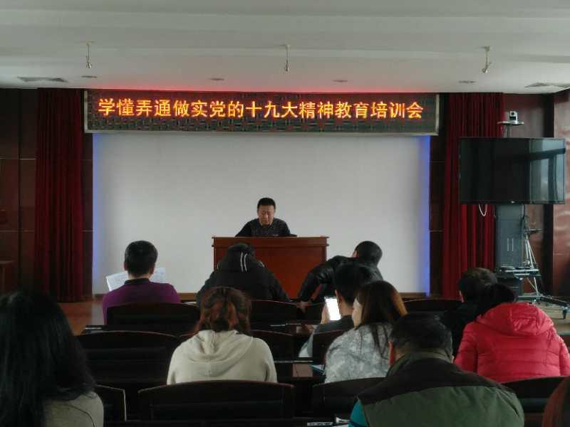 党的十九大学习教育培训会