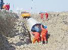 黎明河改造工程正在施工