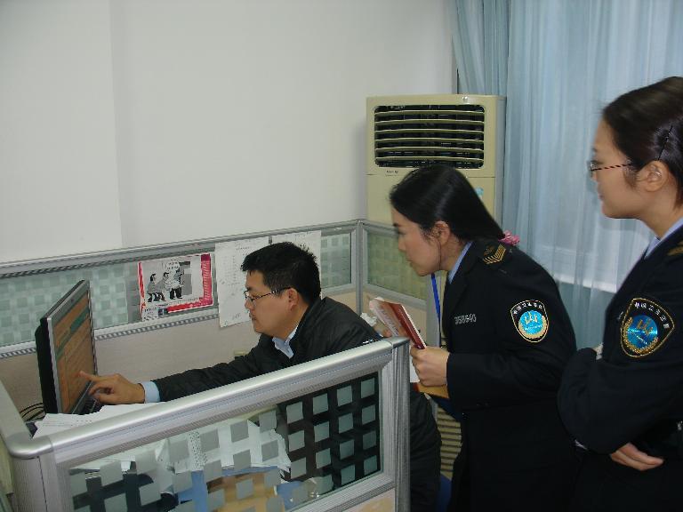 市卫生监督所对南平市中心血站进行卫生监督