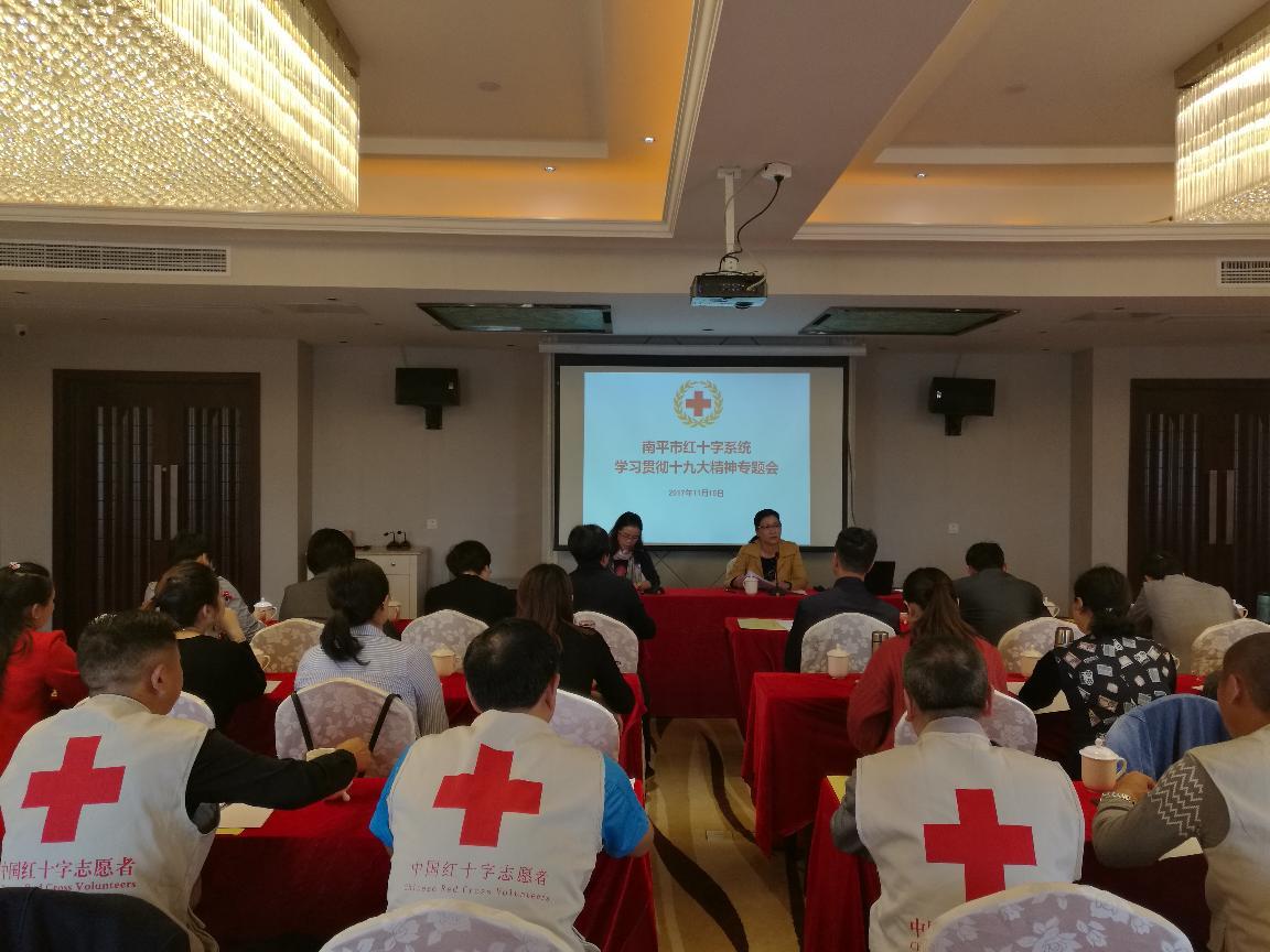召开全市红十字会系统学习贯彻党的十九大精神专题会