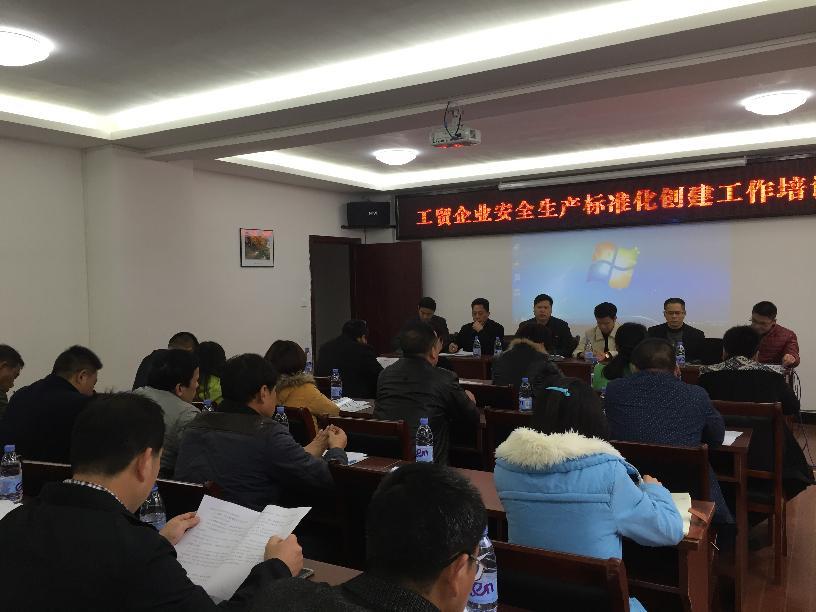 我局召开工贸企业安全生产标准化建设提升工作培训会议