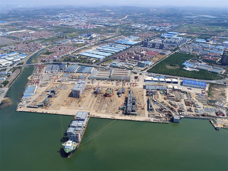开发区蓬莱巨涛海洋工程重工有限公司YAMAL项目Train3生产线10个模块紧密交付