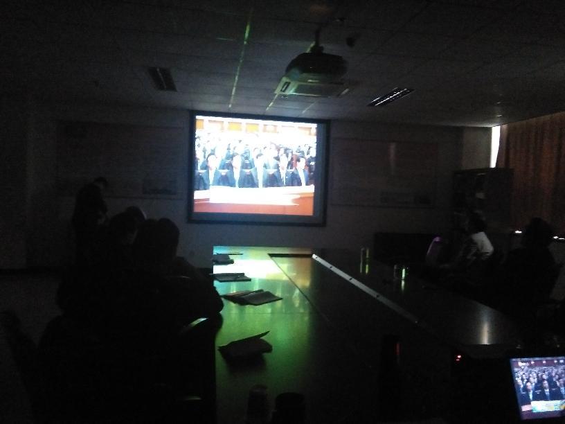 组织收看纪念长征胜利80周年习总书记重要讲话