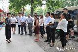 2017年8月23日晋城市城区西街街道党工委副书记陈末红一行到金谷园办事处参观学习