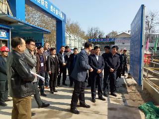 市委常委秘书长杨廷俊调研我办河科大二附院门诊病房楼项目建设