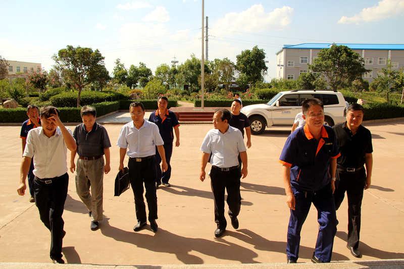 省安监局监管四处王春选一行到中金嵩县嵩原黄金冶炼厂调研安全生产工作
