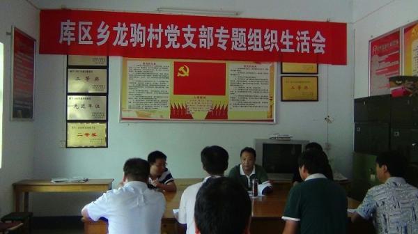 库区乡龙驹村召开党的群众路线活动组织生活会