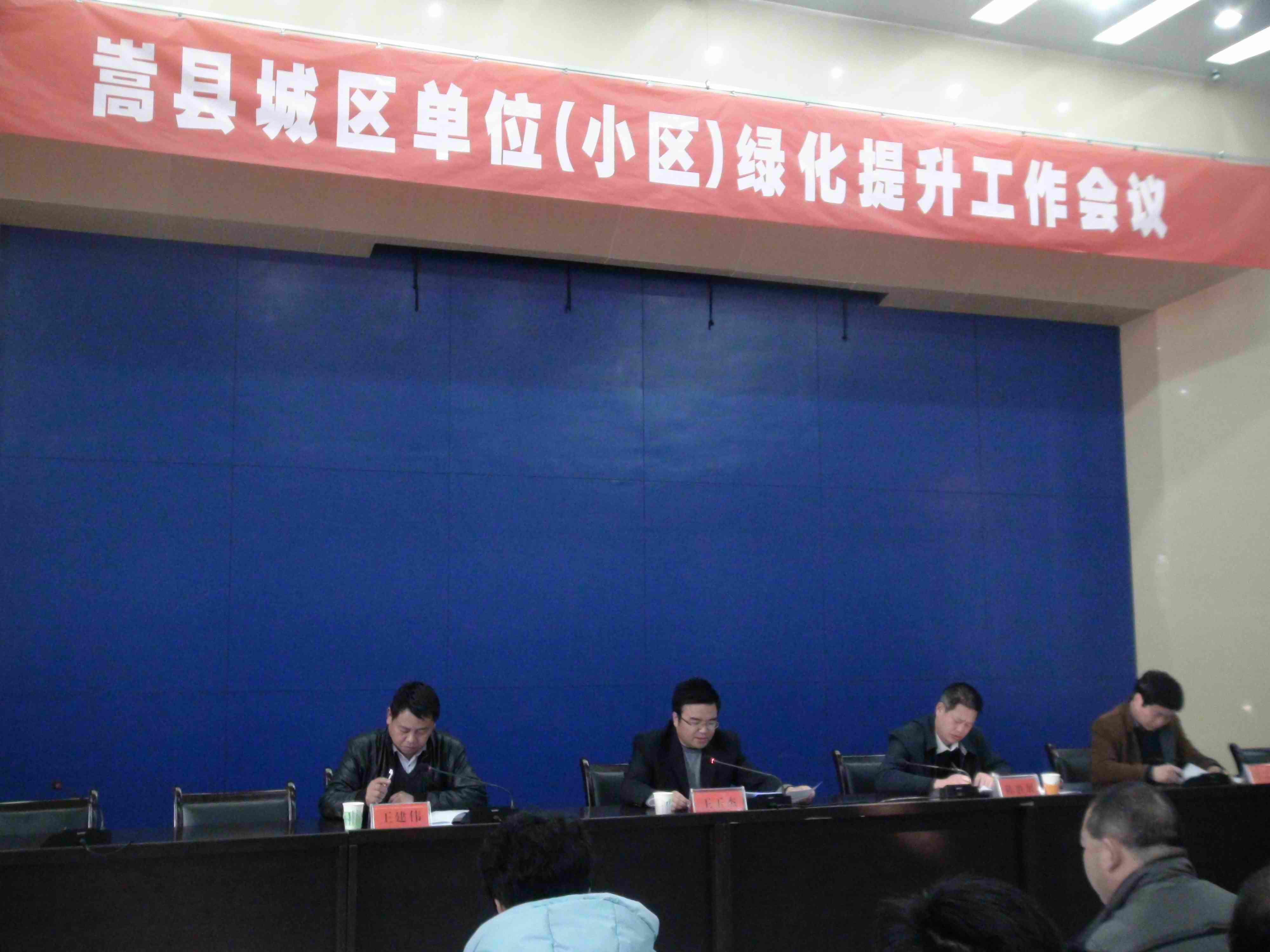 嵩县城区单位小区绿化提升工作会议