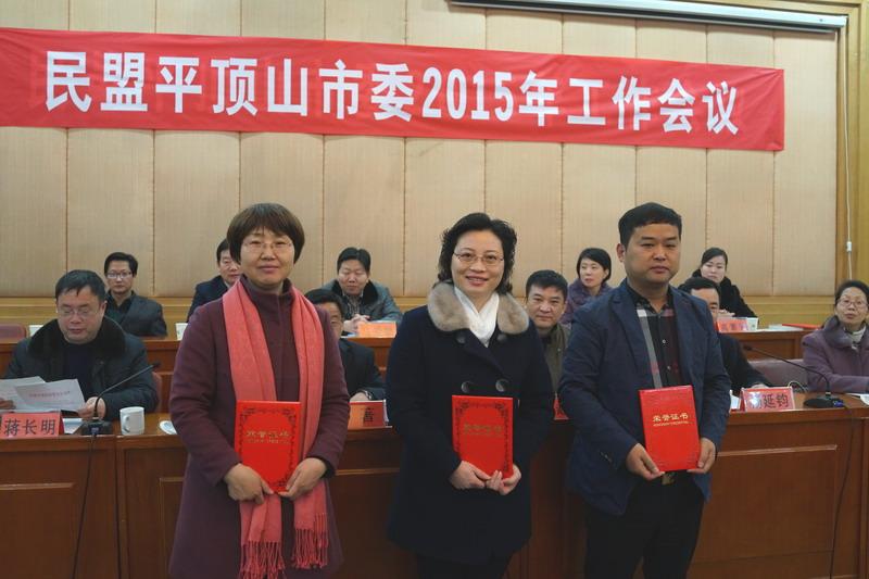 2015年度工作会议颁发荣誉证书2