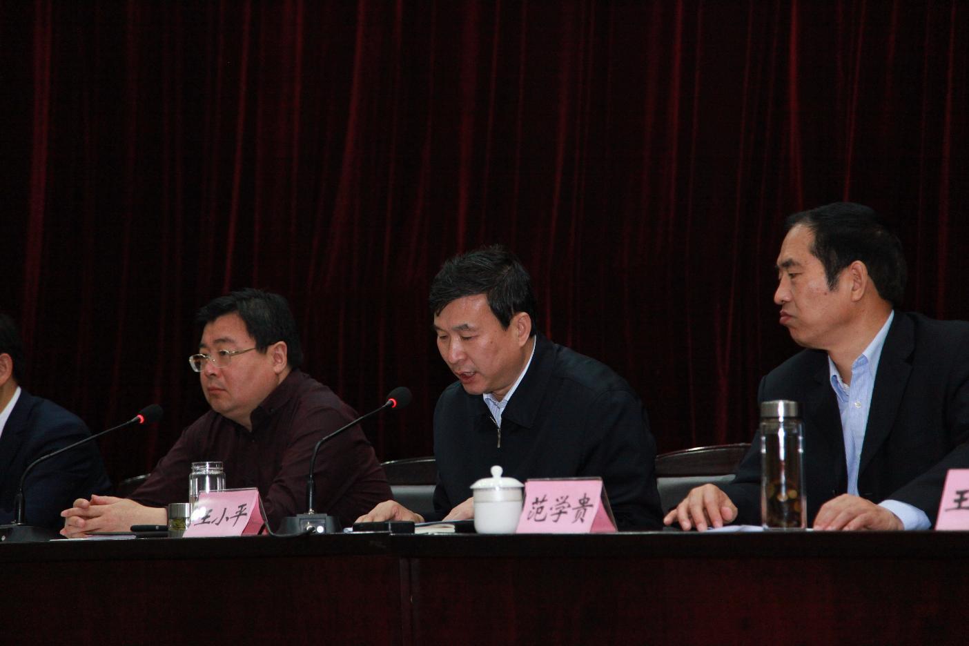 王小平市长主持会议