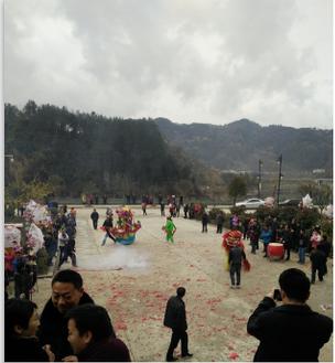 舞狮彩船贺新春