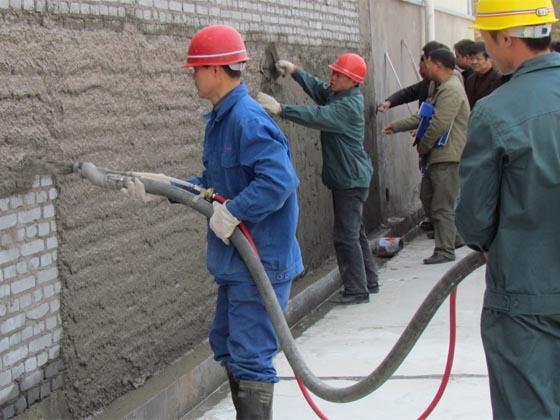 预拌砂浆机械化施工