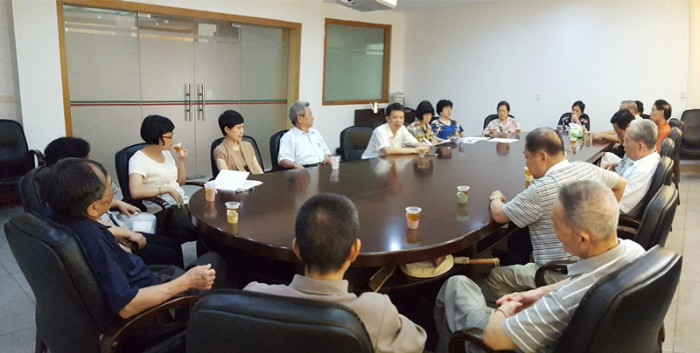 2016年老干支部民主评议党员会议