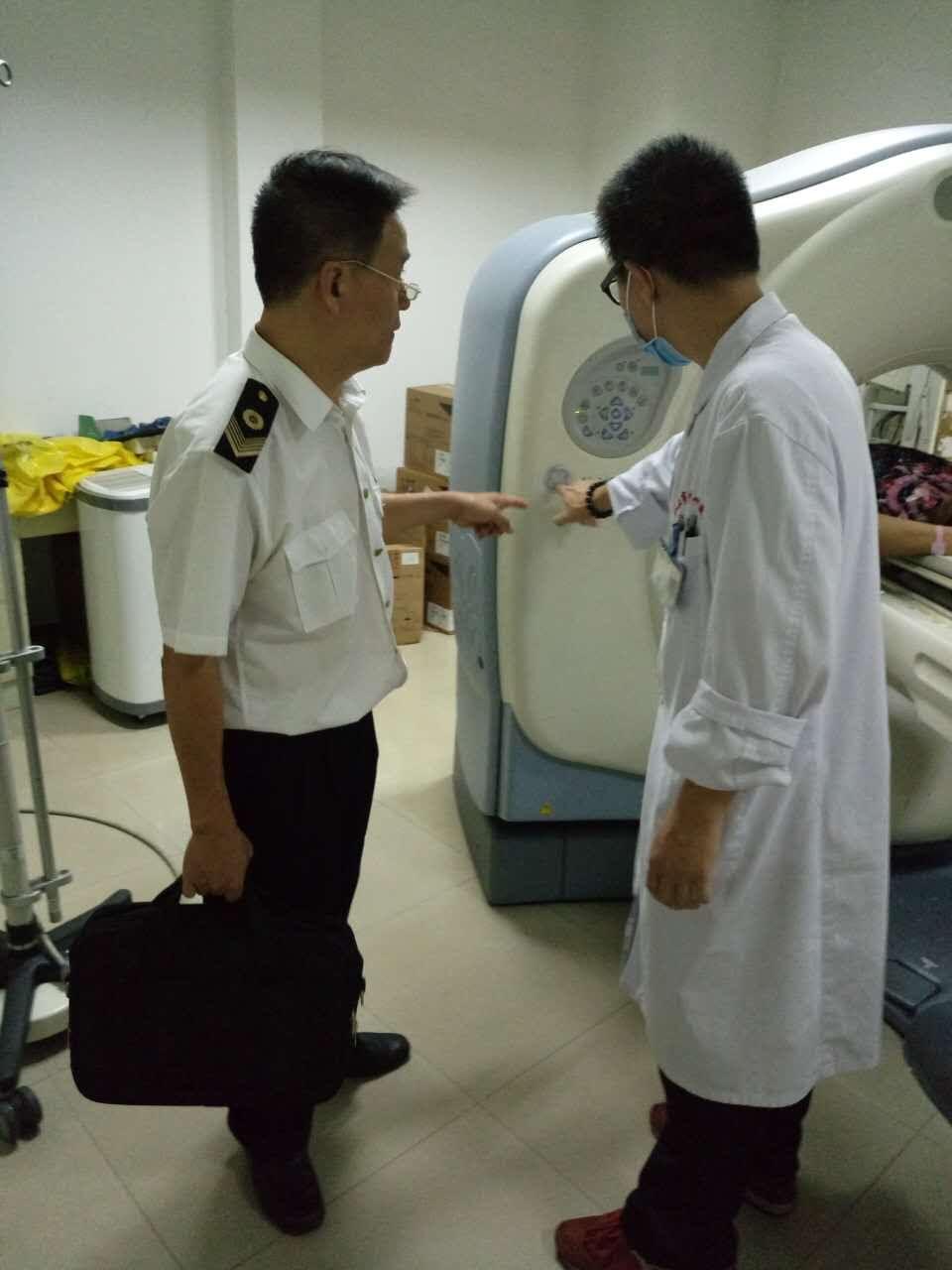 汕头市卫生监督所监督员开展放射诊疗卫生监督工作