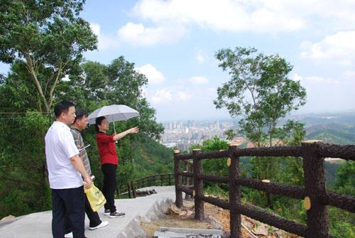 市旅游局局长梁红健调研高州旅游景区景点建设