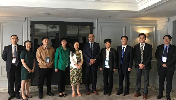 世界银行城市发展与灾害管理韧性建设局萨摩赫局长会见了德阳代表团一行