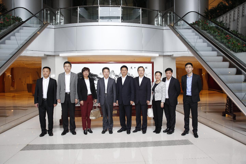 冯发贵常务副市长率团拜访中央政府驻香港特别行政区联络办公室经济部
