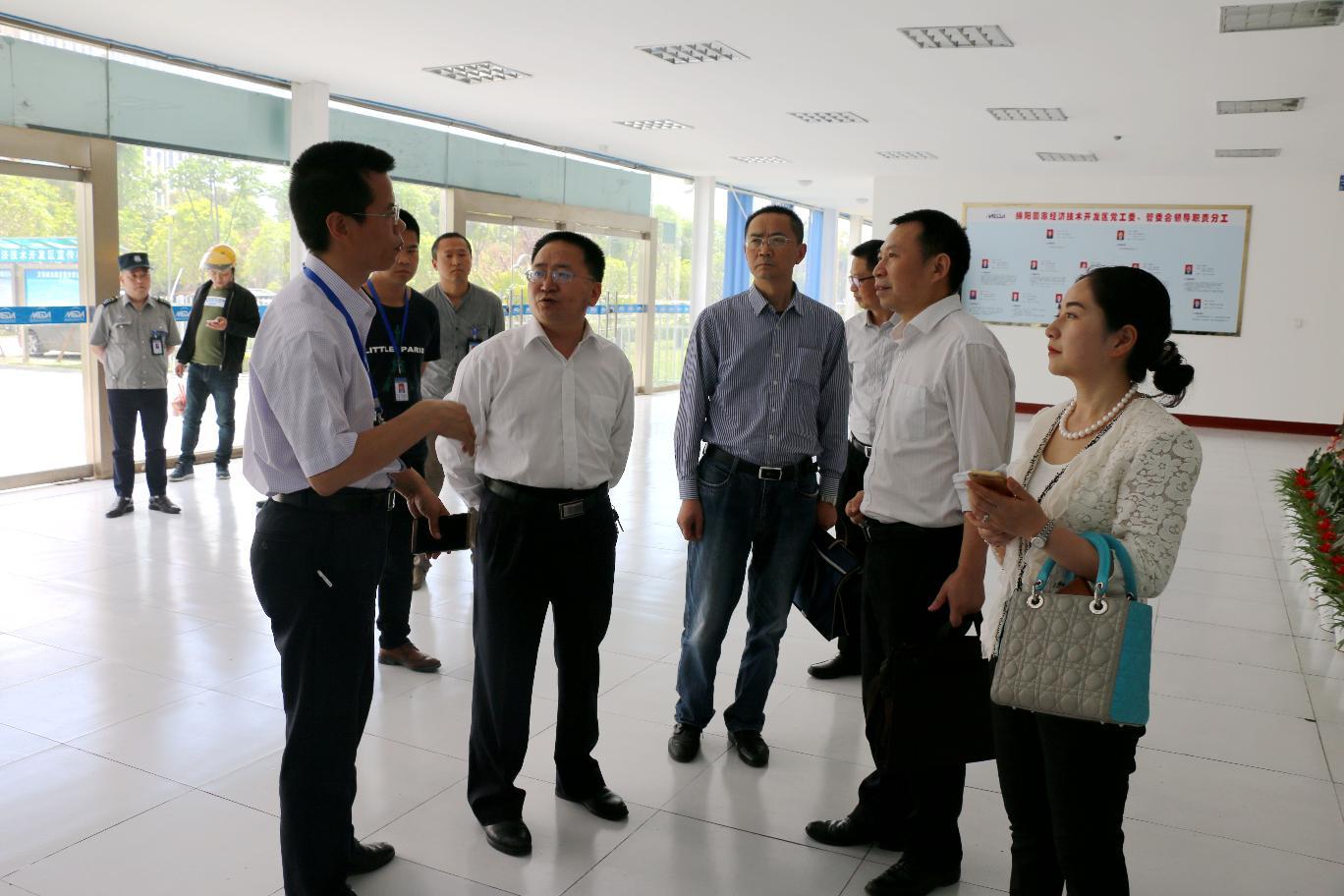 市政务服务管理局局长蒋玉平对经开区管委会进行工作调研