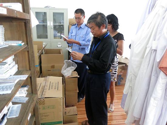 晴隆中营市监分局开展无菌和植入类医疗器械监督检查