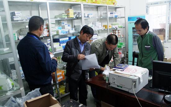晴隆花贡市监分局开展假冒拉米夫定片药品专项检查
