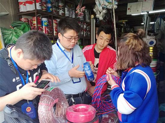 晴隆市监局开展电线电缆市场专项整治