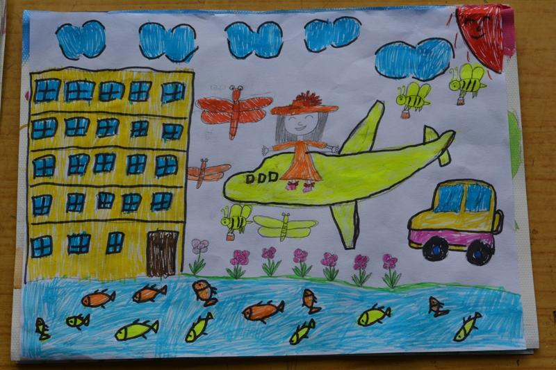三名 赵丹(三年级)-2015年6月幸福小学绘画比赛参赛作品展览