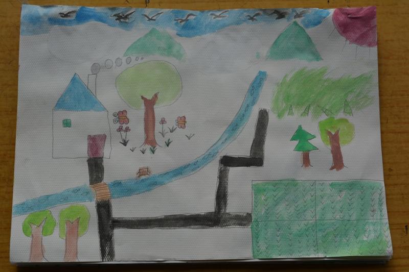 福小学绘画比赛参赛作品展览