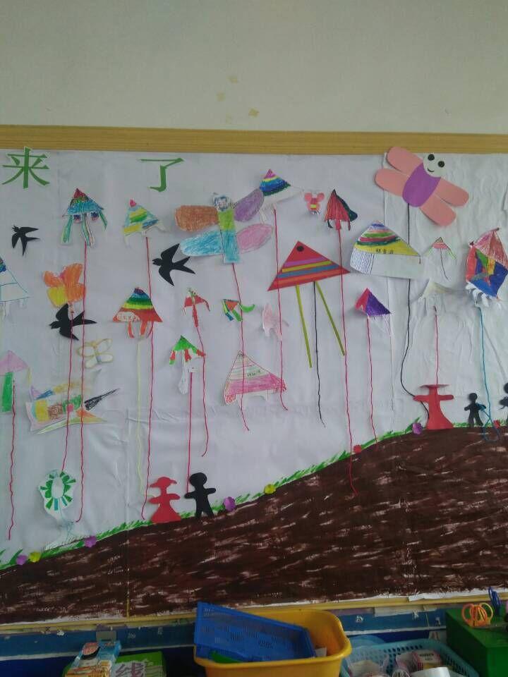 老师应该给孩子们跳一下能够得着的平台,主题墙就是一个最好的平台.