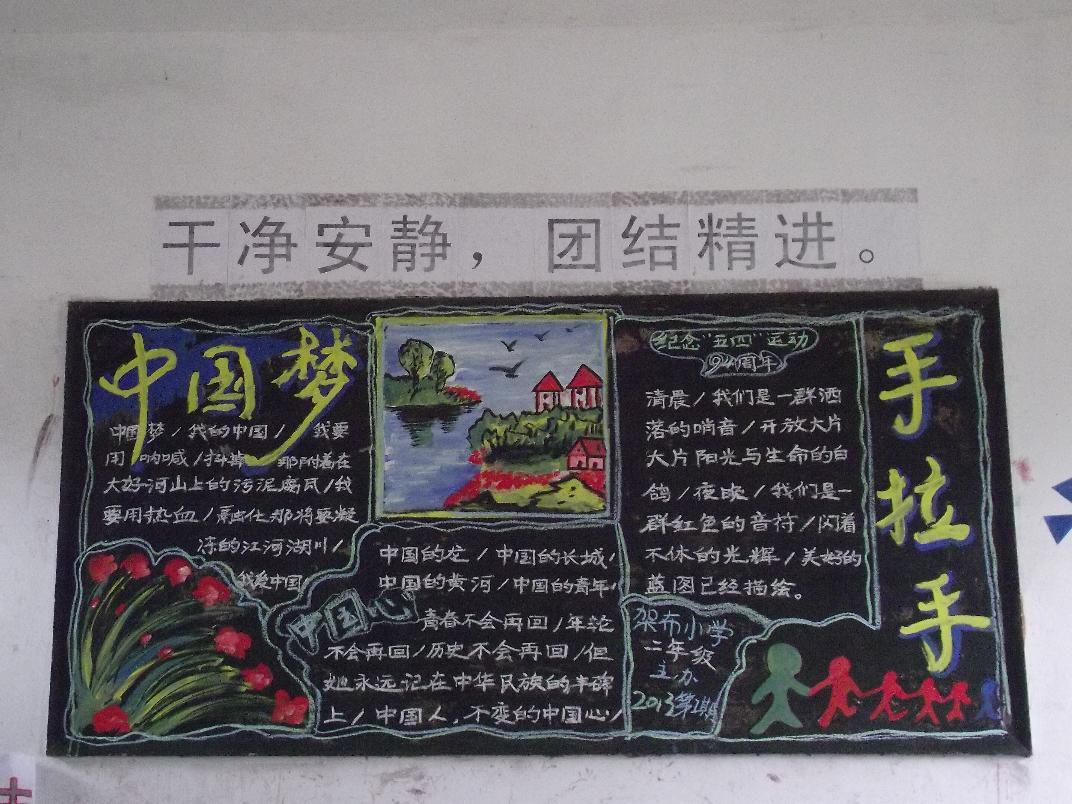 中国梦黑板报比赛