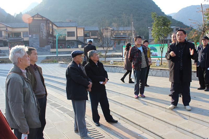 组织老同志参观新农村建设