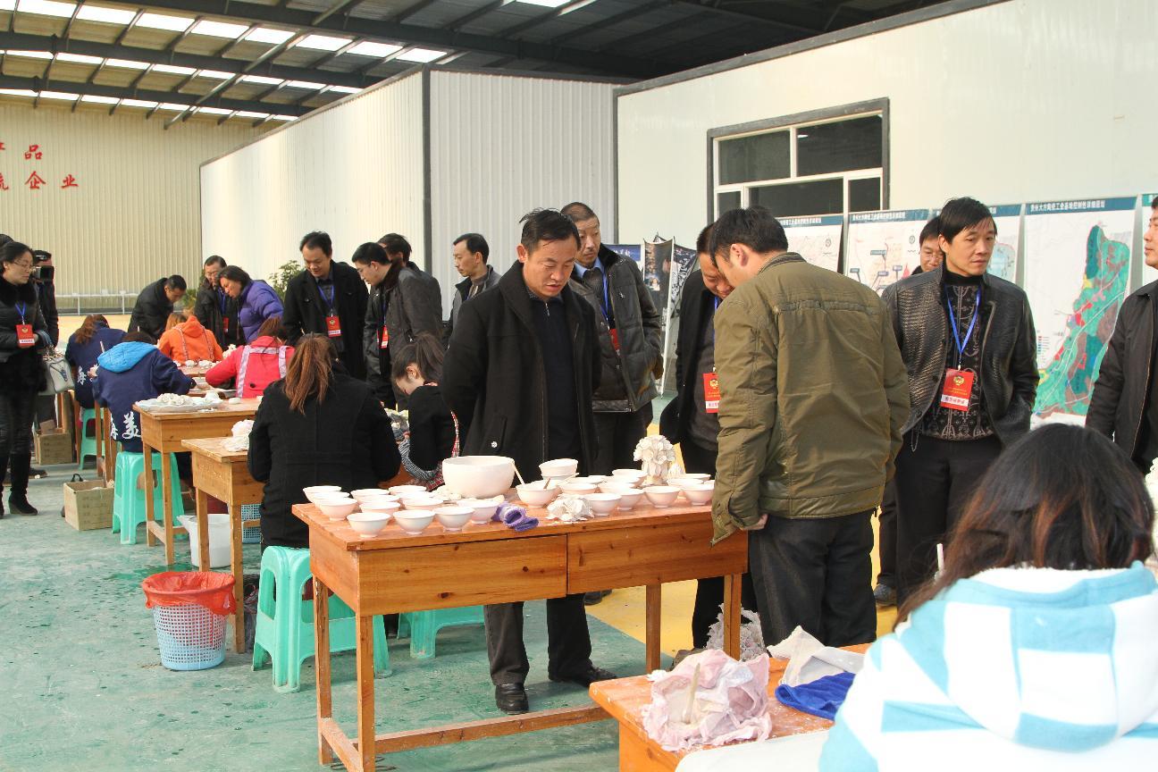 县政协常委参观金门陶瓷园区海美斯精品陶瓷生产