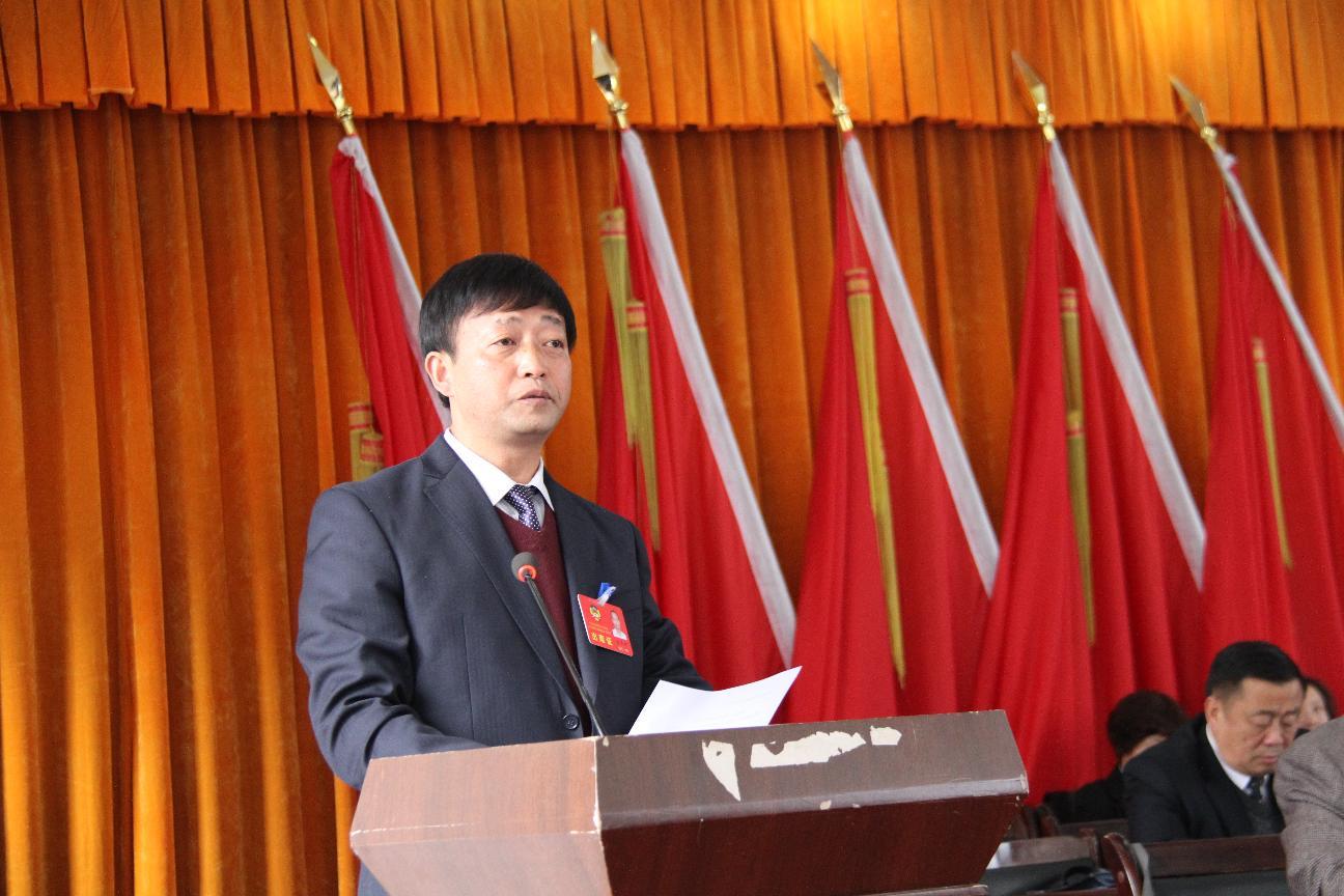 政协副主席龙天明代表常委会在九届五次会议上作工作报告
