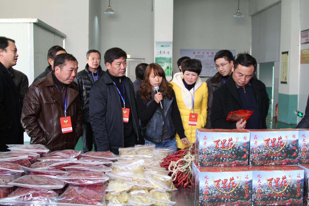 县政协常委参观食药园区百里花生产