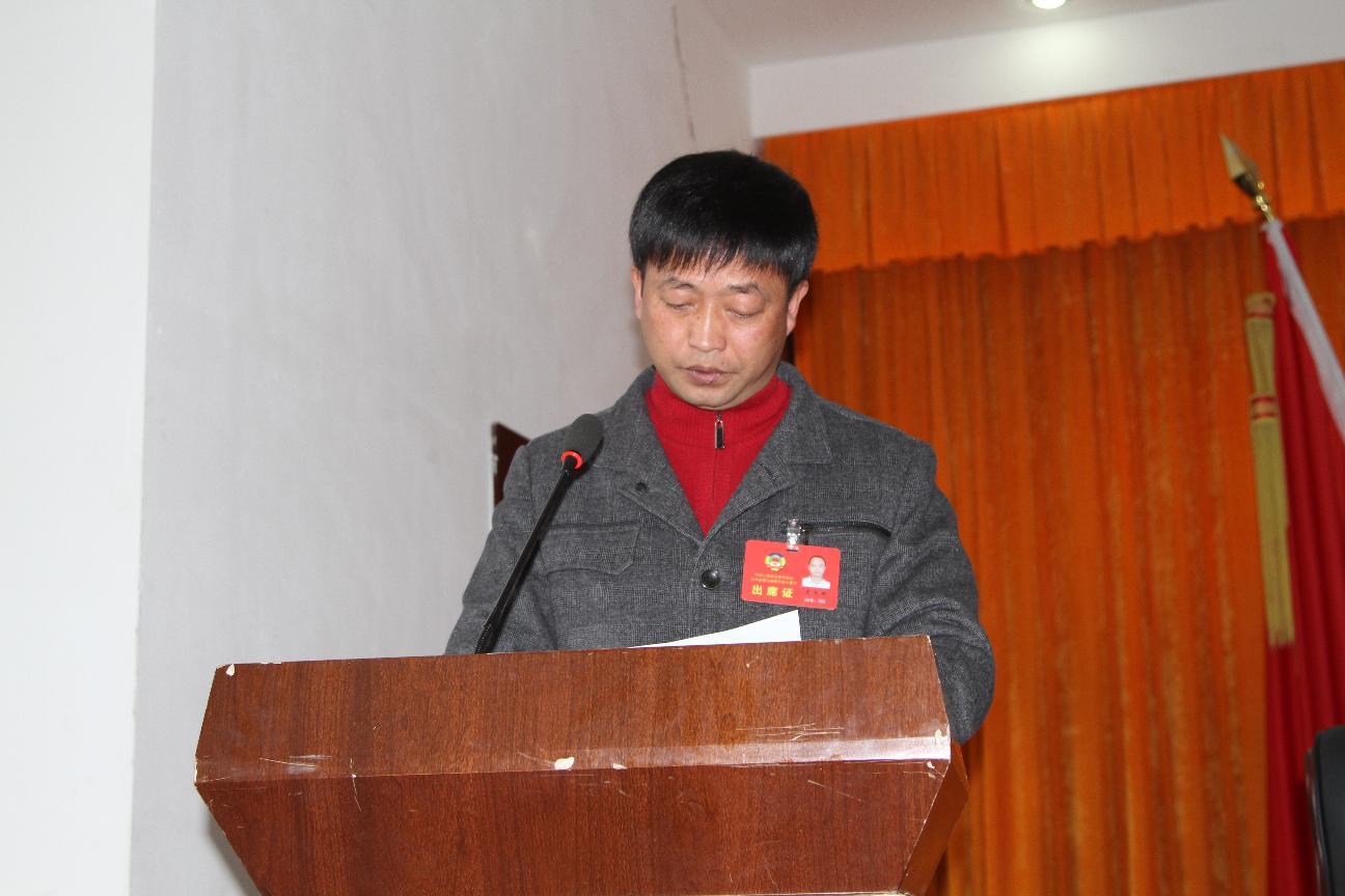 龙天明副主席作政协工作报告