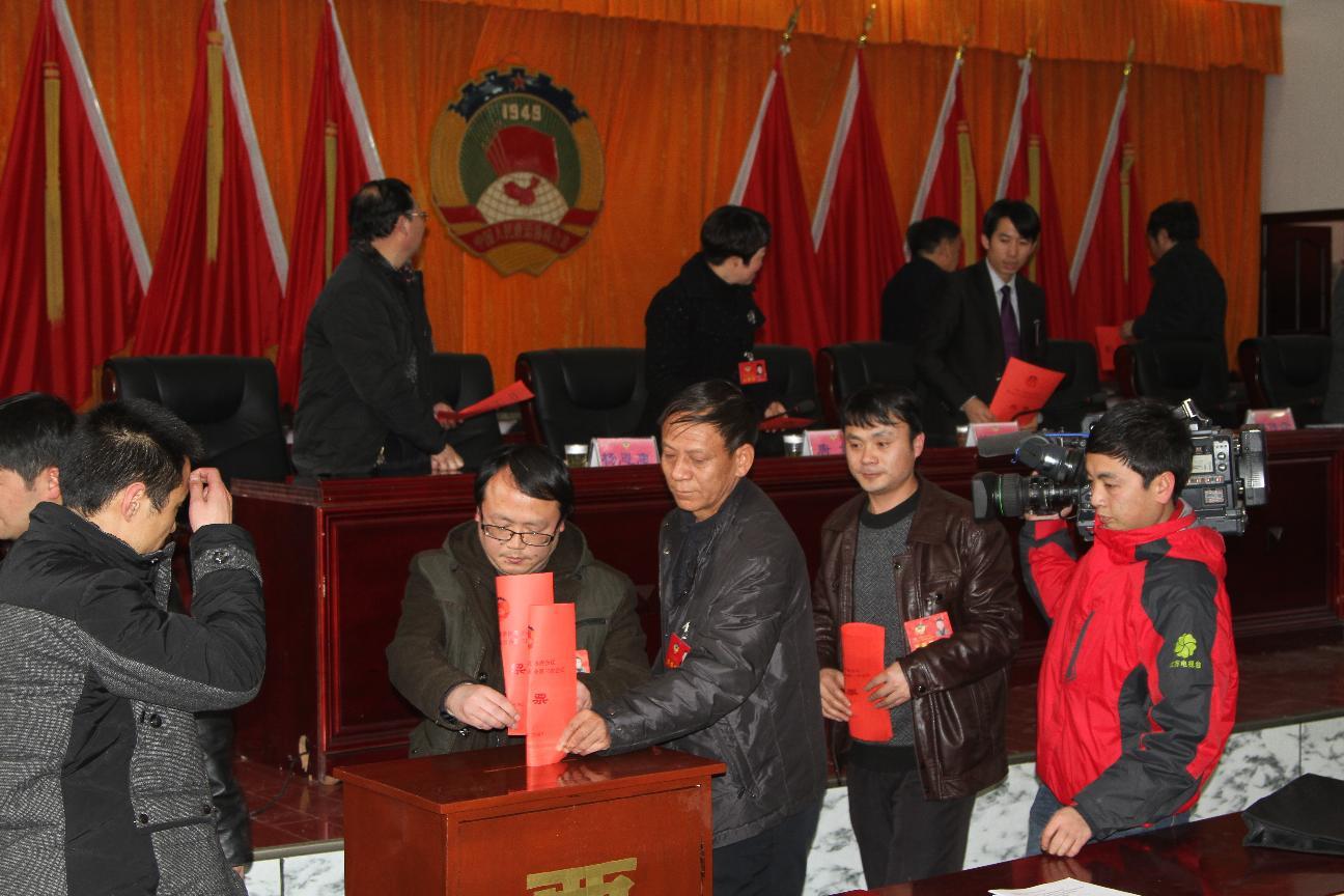政协委员踊跃投票