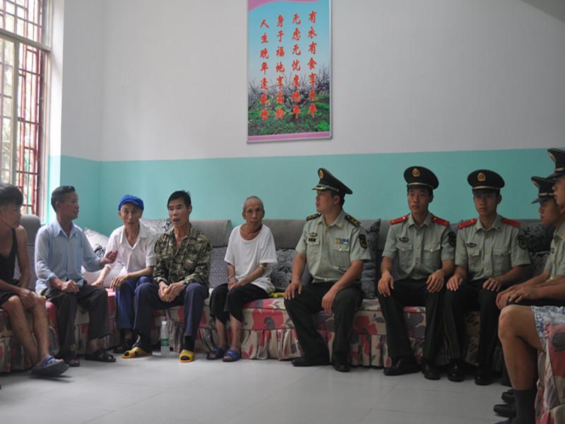 剑河大队七一期间深入县光荣院开展走访慰问活动